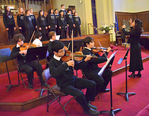 At the 2013 Junior Bach Festival